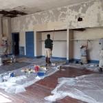 2015 - AmeriCorps volunteers painting museum room